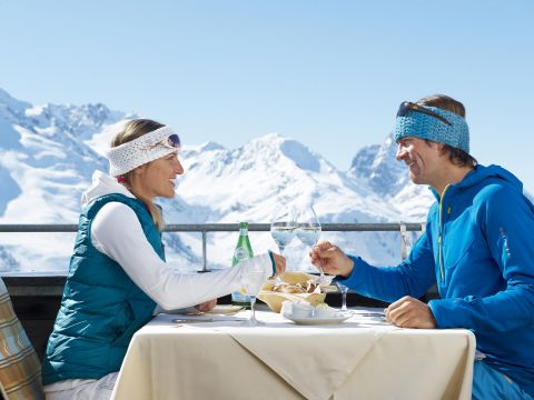 Romantic moments in the mountains in St. Anton, Austria