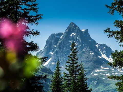 Breathtaking mountain view in St. Anton at the Arlberg